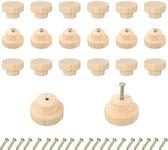 20 Stuks Luxe Houten Ladeknop Handvat 40mmx25mm  - Meubelknop - Met Schroef - Intersteel knop - Handgrepen