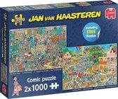 Jan van Haasteren De Muziekwinkel & Vakantiekriebels puzzel - 2 x 1000 stukjes
