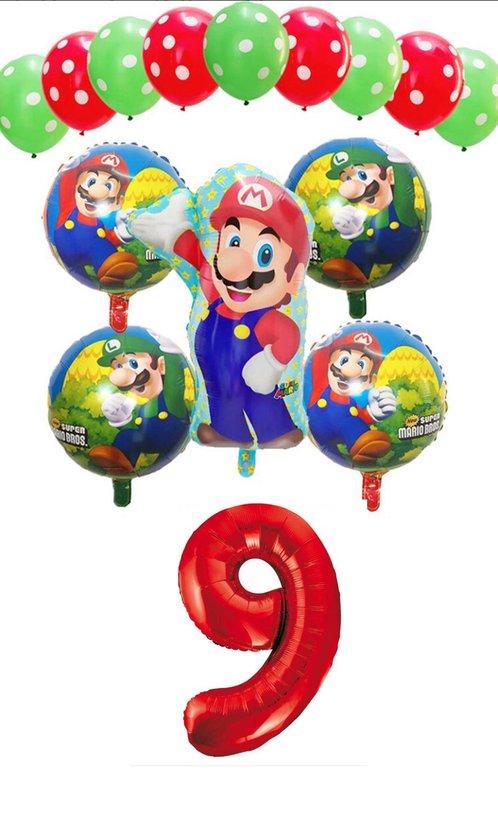 Super Mario - Luigi - ballon set - thema - ballonnen - 9 jaar