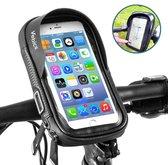 Vebics® - Telefoonhouder Fiets - Universeel - Waterbestendig - Gsm houder fiets - Fiets telefoonhouder - iPhone - Samsung