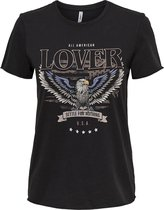ONLY ONLLUCY LIFE REG S/S AMERICAN TOP JRS Dames T-shirt - Maat L