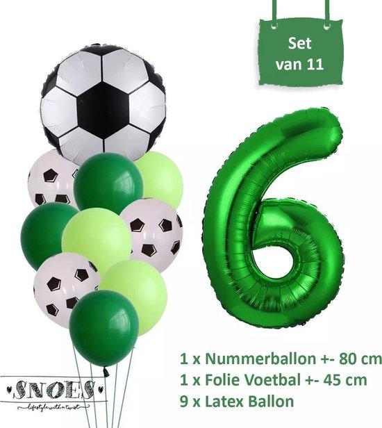 Voetbal Verjaardag * Ballonnen Set 6 Jaar * Hoera 6 Jaar * Jarig Voetbal * Voetbal Fan * Snoes * 80 CM * Voetbal Versiering * Birthday