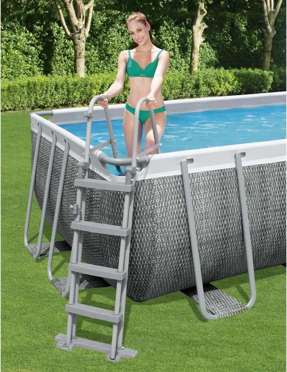 Bestway Zwembadladder Flowclear met 4 treden 122 cm