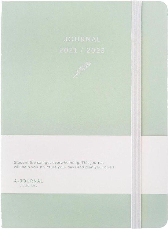 Afbeelding van A-Journal Schoolagenda 2021/2022 - Mintgroen - A5
