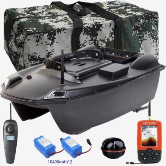 GPS Voerboot – inclusief tas - inclusief 2 batterijen - inclusief fishfinder - laadvermogen tot wel 3 kilo - 500M bereik - dubbele voerbak - Hook release - Afstandsbediening – Cruise Control - Karper Voerboten – Bestuurbare Boot - Karpervissen