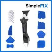 Kit Schraper – Kitspatel – Kit Tool – Siliconen Verwijderaar – Kitstrijker – Kitverwijderaar Afstrijkrubber – 3 in 1 – RVS