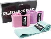 Rockerz Fitness® - Weerstandsbanden - Booty Band - Resistance band - Fitness elastiek - 3 Stuks