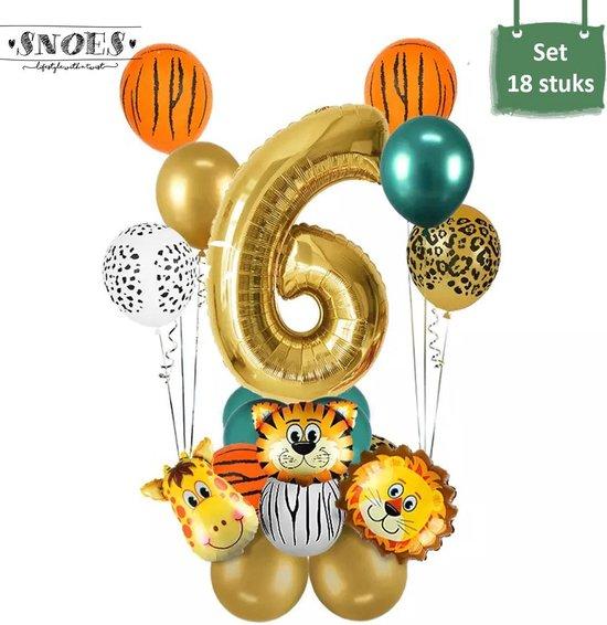 Dieren Ballon Pakket * 6 Jaar * Jungle Ballon * Dieren Feest * Jungle Feest * Verjaardag Feest * Hoera 6 Jaar * Gefeliciteerd * Kinderfeestje * Jungle Party * Snoes