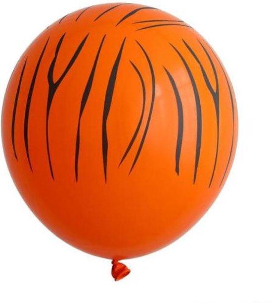 10 x Oranje ballonnen | Tijger print | Jungle print | Jungle feest | Jungle party | Thema feest
