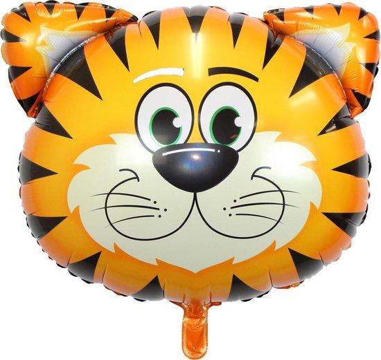 Tijger Ballon Jungle Safari Helium Ballonnen Verjaardag Versiering Feest Decoratie XL Formaat 90 CM Met Rietje – 1 Stuk