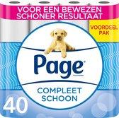 Page toiletpapier - Compleet Schoon wc papier - 40 rollen