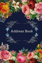 Address Book: Vintage Flower Cover: For Recording Name Address Phone Email Notes