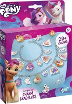 My Little Pony - glitter bedelarmbandjes maken - Totum sieradenset met puffy stickers - knutselset