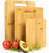 Budu Snijplankenset 3 stuks - Snijplanken bamboe - Snijplank hout - Keukenplanken