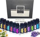 Mija Labs essentiële olie giftset - 12 natuurlijke aroma's