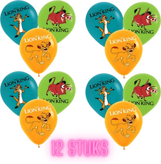 Lion King Ballonnen - 12 Stuks - Latex Ballonnen - Leeuwenkoning - Lion King Speelgoed - Simba