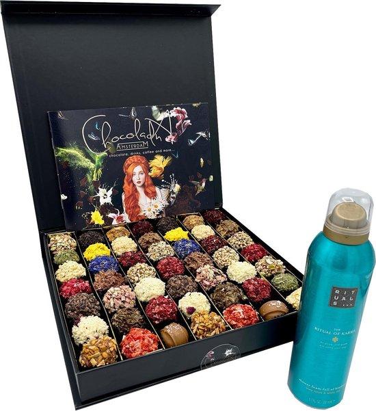 ChocolaDNA - Chocolade & Rituals geschenkset met smaak en geur bestaande uit...