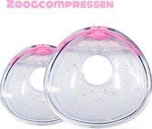 SEBASKA - Borstcompressen - Zoogcompressen wasbaar - Herbruikbaar - Borstvoeding - Moedermelk - Lekschalen - Met bewaardoosje - Anti-lek