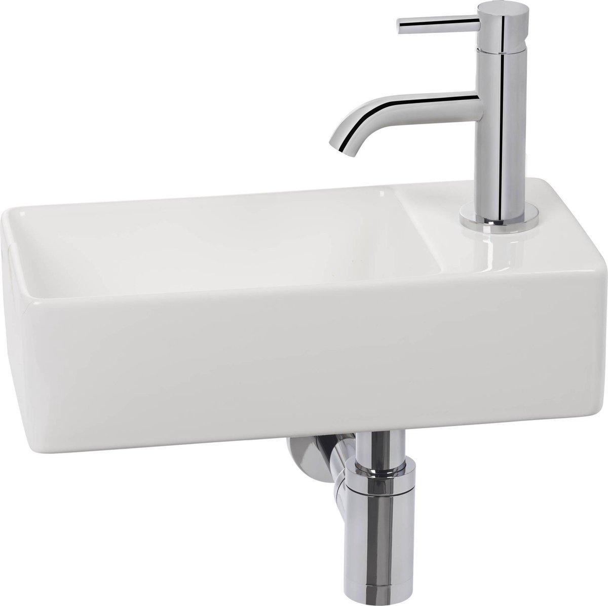 Clou New flush 3 Complete Fonteinset rechts Wit/Chroom