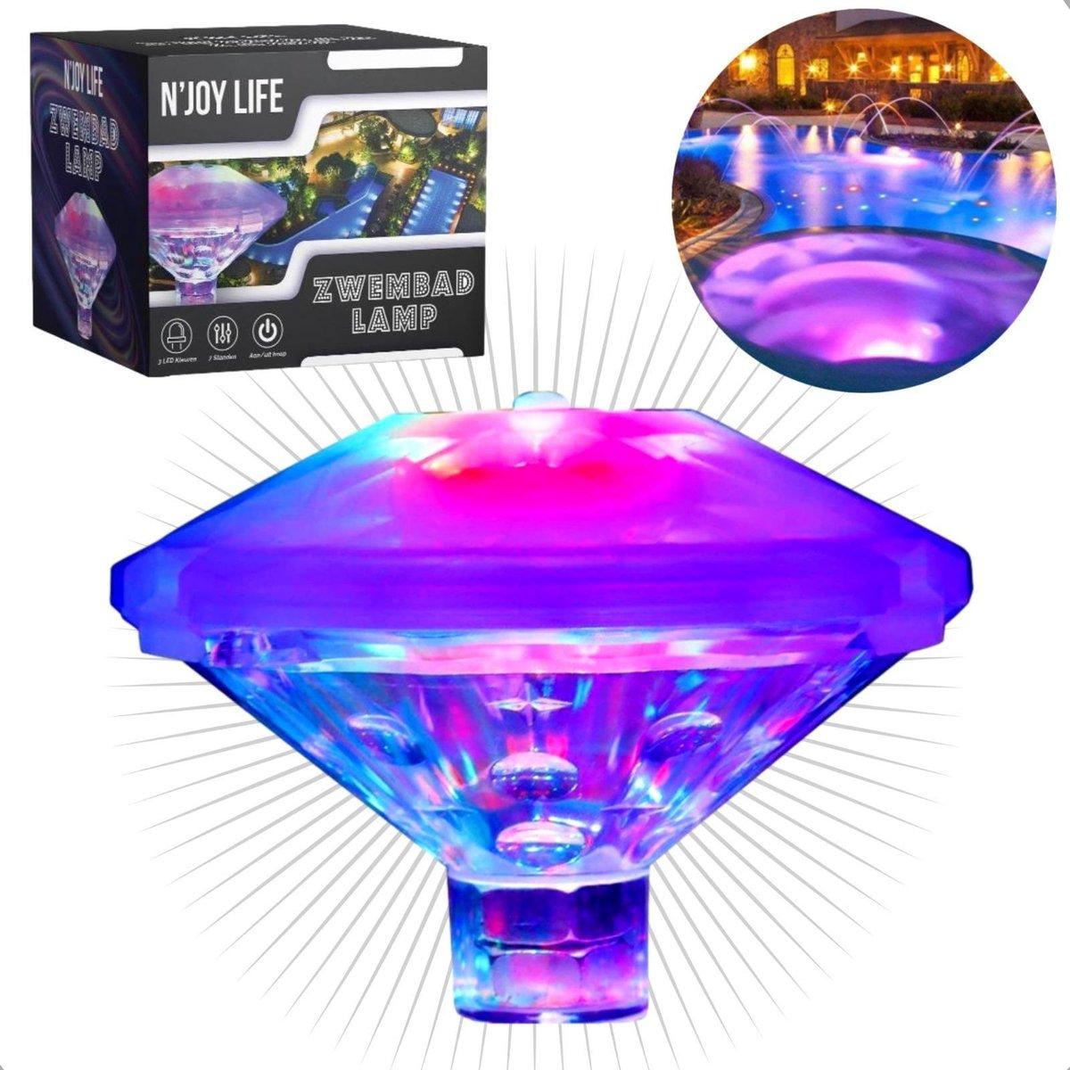 N'JOY Life Lamp - Zwembad Verlichting - Disco Lamp - Onderwater verlichting - Zwembad - Jacuzzi - Buitenspeelgoed