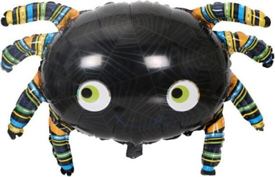Spin Ballon - XL - 55x88cm - Ballonnen - Halloween - Thema feest - Verjaardag - Helium ballon - Horror - Folie ballon - Leeg - Halloween Versiering - Halloween accessoires - Halloween decoratie