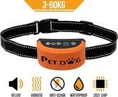 PET DOG® | Anti blafband voor honden | 3 t/m 60 Kg | Oplaadbaar | Anti blaf band | Trainingsband | Vibratie en geluid | Diervriendelijk | Shock aan/uit instelbaar