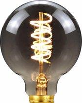 Filament lamp – Kooldraadlamp – E27 fitting – LED lamp – Spiraallamp – Edison lamp – Lamp - Dimbaar – Zwart Glas – 2200K - 4W - Warm