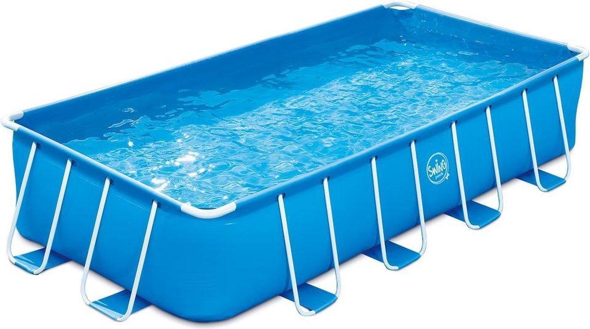 Metalen frame zwembad Swing - frame pool - opzetzwembad - familie zwembad | 4,88 x 2,44 x 1,07 m - Rechthoekig