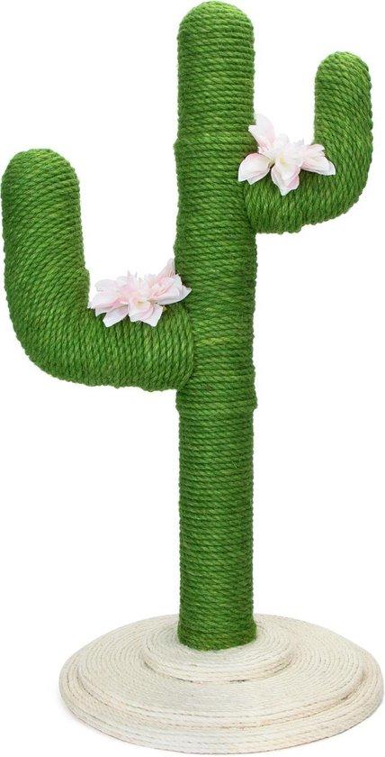 Nobleza Katten Krabpaal 40VQU - Cactus - 40 x 40 x 80 cm - Groen
