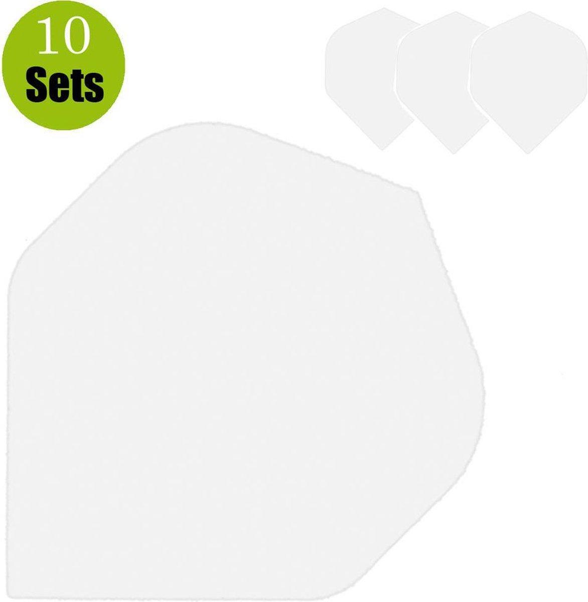 Poly Plain Dartflights - Clear- (10 Sets)