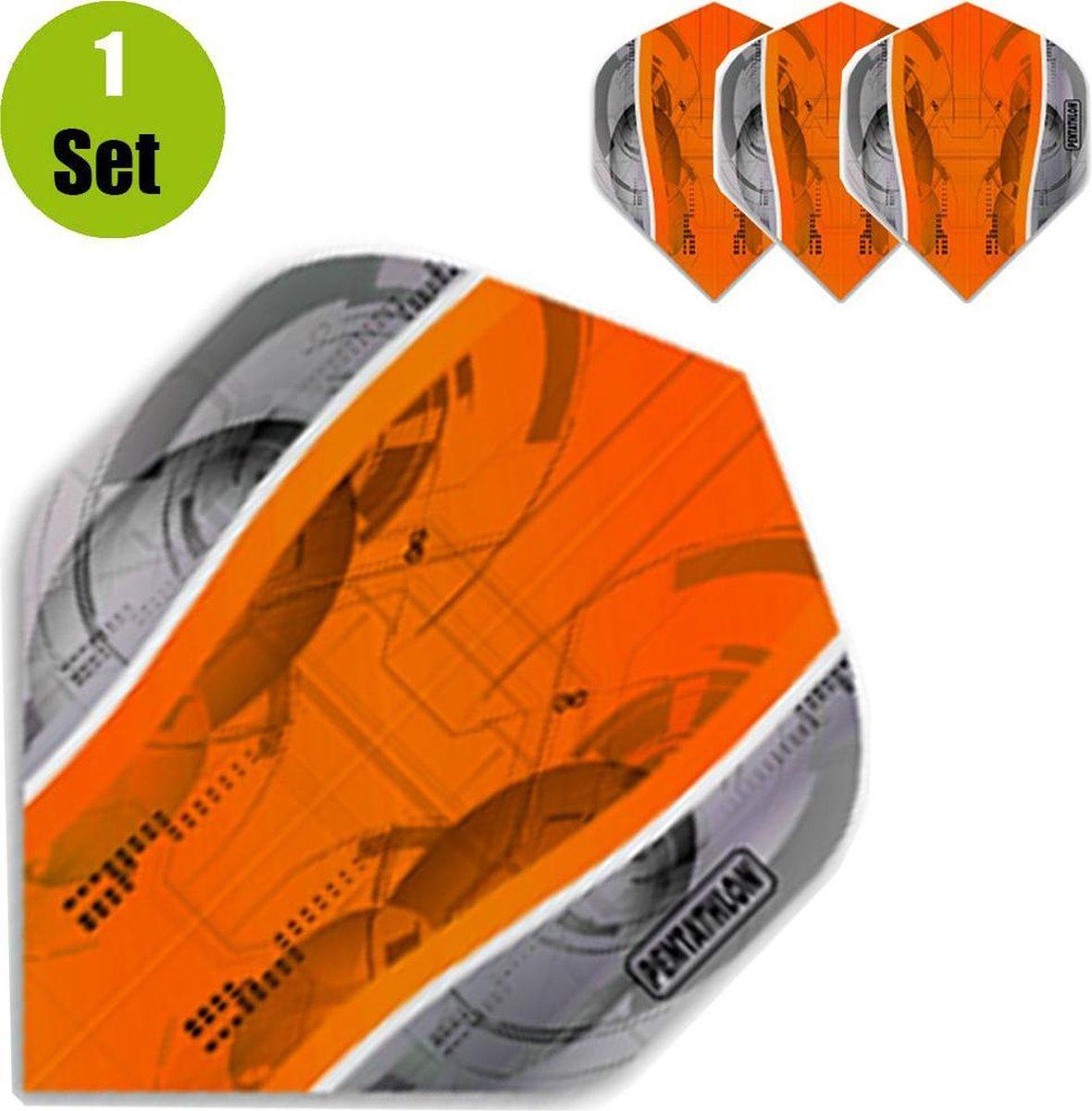 Pentathlon Silver Edge Dartflights - Oranje- ()