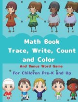 Math Book, Trace, Write, Count and Color