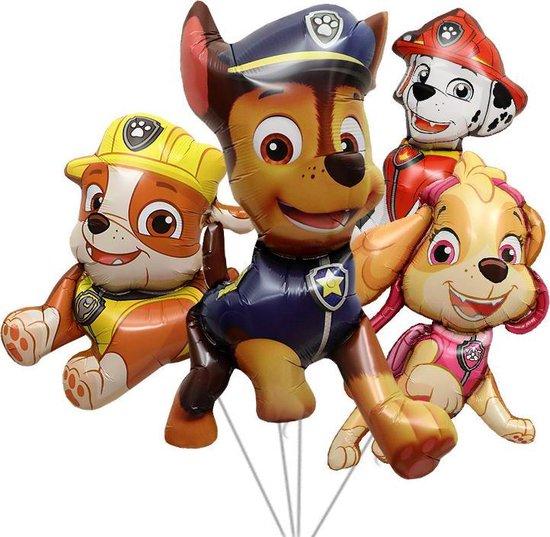 Paw Patrol Helium Set - Ballonnen - Chase - Marshall - Rubble - Skye - Paw Patrol set 4 delig - Themaverjaardag - Kinderfeest - Versiering