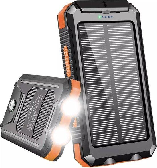 Lucky One - Solar Powerbank 20.000 mAh - Waterdicht - Gratis 3 in 1 Kabel