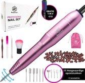 5. Beeperfect® Elektrische Nagelvijl – Manicure en Pedicure set - Nagelfrees - 4 Extra accessoires - Roze