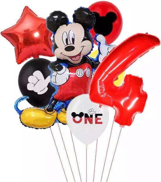 Disney Mikey Folie Ballonnen Set Mickey Mouse Ballon 7 stuks Verjaardagsfeestje Decoratie -4 jaar