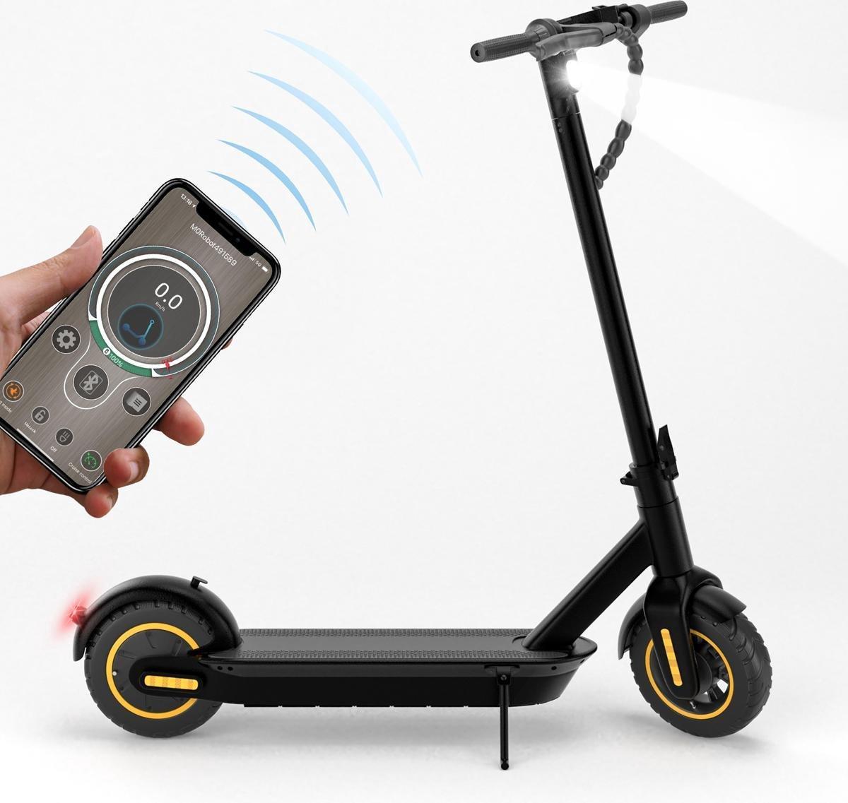Qumax Sonnik Elektrische Step met App – E-Step Volwassenen – Opvouwbaar 33 km/u – 50 km Bereik – 10'' Banden – 350W Cruise Control online kopen