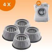 FLOOQ - Wasmachine Demper - Trillingsdemper - Anti Slip Trilmats - Verhoger - Anti Trilling - Meubelverhoger - Universeel - Dempingsysteem - 4 stuks - Zwart   Grijs