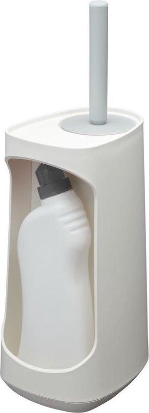 Tiger Tess Toiletborstelhouder met opbergfunctie vrijstaand en Swoop® borstel flexibel - Wit / Lichtgrijs