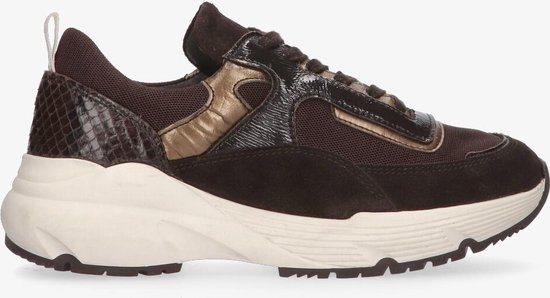 Tango   Kaylee 1-b dk brown multi sneaker – bone white sole   Maat: 37