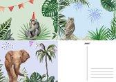 Joons verjaardagskaart wenskaarten zonder tekst verjaardag set blanco - 15 stuks A6 luxe kaarten - verjaardagskaarten volwassenen