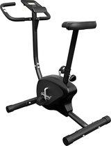 Physionics® hometrainer - met LCD-display, verstelbare zitting & weerstand, met handpolssensoren, tot 100 kg, zwart - hometrainer, fietstrainer, fitnessfiets, fitnessfiets, ergometer