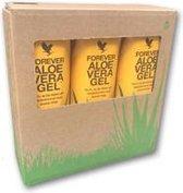 Tri-pack aloe vera gel, 3 x 1 liter