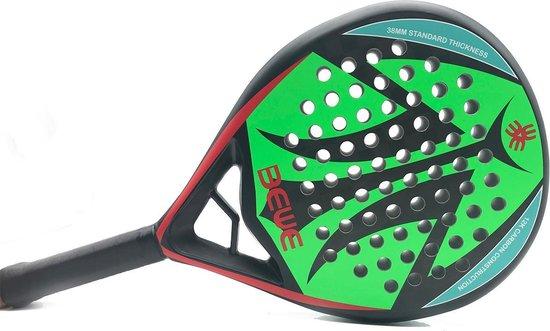 Racket- Padel racket- Padelracket - Diamond- Padel racket - 12 k- Carbon- fiberglas- Padel- PU grip