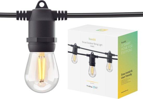 Hombli Smart Outdoor String Light 5m – Lichtsnoer voor buiten – Sfeerverlichting voor in de tuin, balkon en terras – Weerbestending IP65