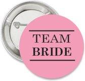 10X Button Team Bride roze met zwart - vrijgezellenfeest - bride to be - button - trouwen