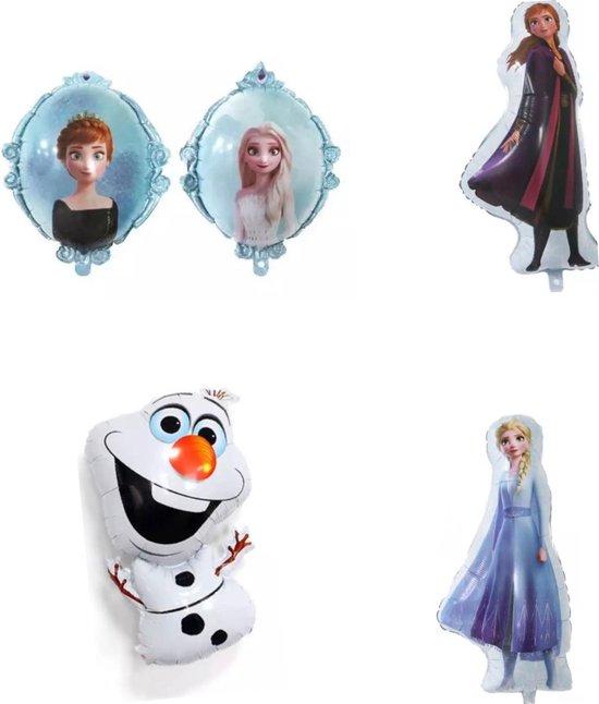 4 Frozen folie ballonnen XL, folie ballon, Elsa , Anna , Olaf frozen