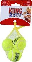 Kong hond Squeakair met piep small, net à 3 tennisballen. (Ø 5 cm)