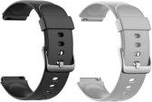 Smartwatch-Trends S205L – Vervanging Horlogeband –  Siliconen bandje - Zwart en Grijs