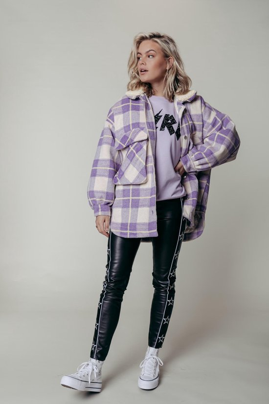 Colourful Rebel Tess Check Oversized Jas - Maat S